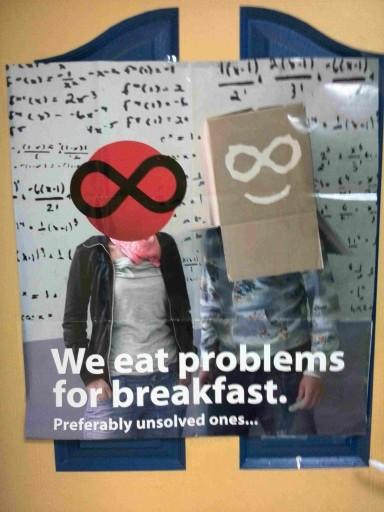 We eat problems for breakfast. Preferably unsolved ones...