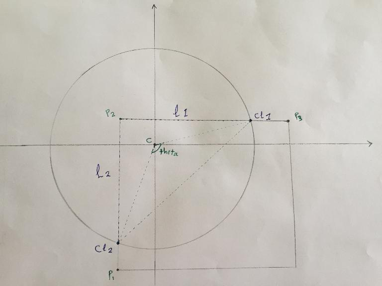 Help in a simple geometry problem codeforces obtain the two lines p2 p3 lets say l1 and p2 p1 lets say l2 find the points of the intersection between the lines l1l2 and the the circle ccuart Images