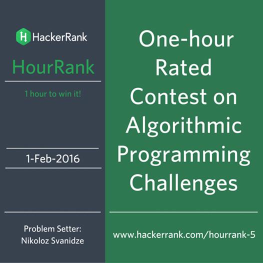 HackerRank HourRank 5 - Codeforces